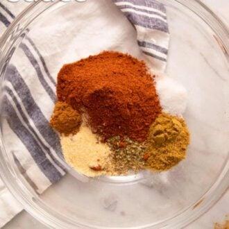 A pinterest graphic of Enchilada sauce
