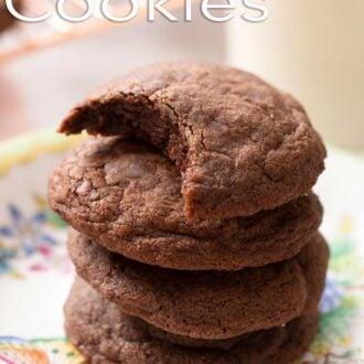 A pinterest graphic of Nutella cookies