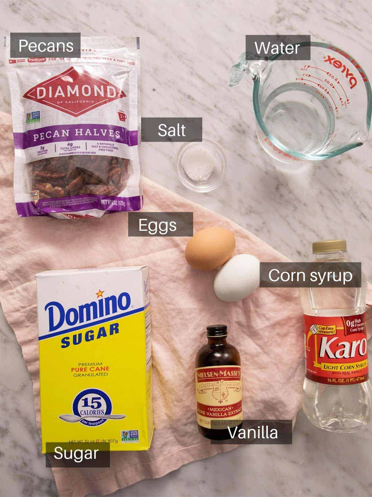 An overhead shot of all the ingredients you need to make Divinity candy