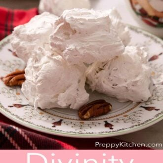 A pinterest graphic of Divinity candy