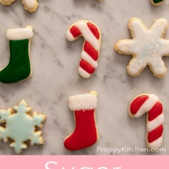 A pinterest graphic for sugar cookie icing