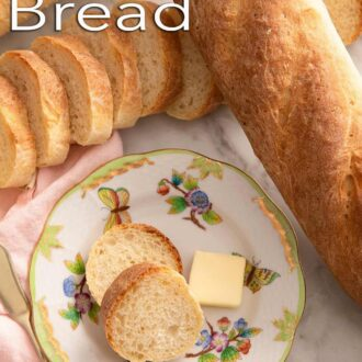 A pinterest graphic of French Bread