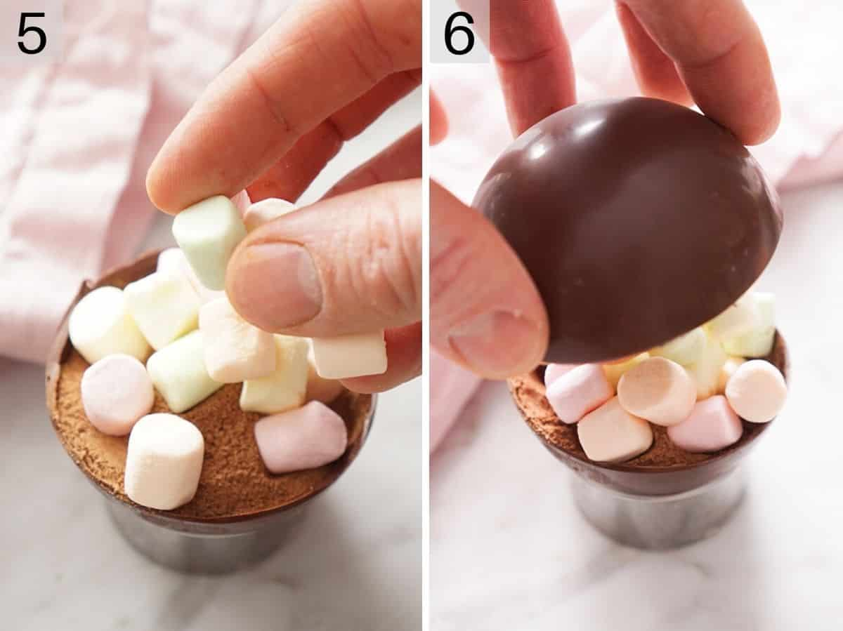 How to fill and seal a hot chocolate bomb